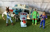 Vintage Ghostbuster's Toy Lot 1984 1988 1989 Ecto 1 & 5 Figures T2