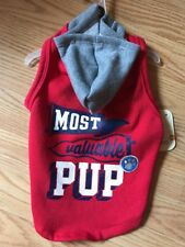 """BOND CO. Red """"MOST VALUABLE PUP""""  HOODIE puppy/dog LARGE"""