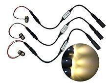 3 pack Micro Effects White LED Light & Control Strobe Flash 9 Volt MELWWD9V-3P