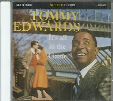TOMMY EDWARDS CD - IT'S ALL IN THE GAME   on Gold Dust Label Italy