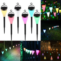 7-Color Changing Solar Lights Waterproof Outdoor Lamp Garden LED Power Lawn Lamp