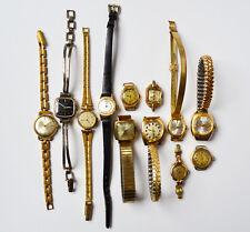 Sammlung 12 ältere Damen Armbanduhren z.T. intakt / defekt Dugena Bifora Zentra