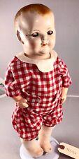 "15"" Antique American Composition Boy Doll! Rare! 18016"