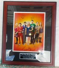 The Big Bang Theory Cast Autographed Framed Photo with COA