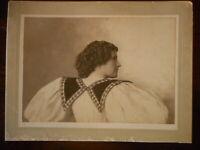 "Antique Cabinet Photo Aunt Maggie Beautiful Lady Woman Vintage Black White 5x7"""