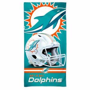 "MIAMI DOLPHINS SPECTRA BEACH TOWEL 30""X60"" COTTON PLUSH NFL LICENSED"