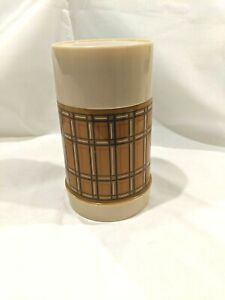 Vintage THERMOS Aladdin's Best Buy  BOTTLE WM4040 PINT WIDE MOUTH PLAID BROWN