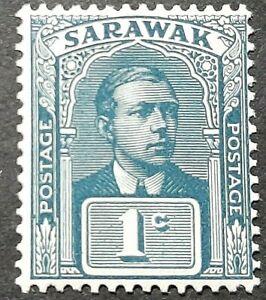 RARE SARAWAK 1918 SG 62 ( UNISSUED ) 1C SLATE-BLUE & SLATE MNH OG FRESH