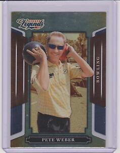2008 DONRUSS LEGENDS PETE WEBER SILVER FOIL CARD #99 ~ PBA BOWLING LEGEND ~ QUAN
