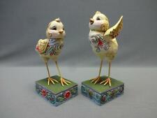 Vintage Jim Shore Heartwood Creek Holliday Sculpture 2 Easter Spring Chicks Base