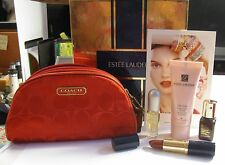 Coach & Estee Lauder Cosmetic Bag Holiday 2010 Set  Esclusive