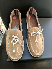 TOMMY HILFIGER Brown Patent Slip On Loafers Shoes Ladies UK5 EU38 47024 RRP£125
