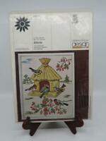 """Oehlenschlager Design THATCHED BIRDHOUSE X Stitch Kit Birds Berries 16"""" x 20"""""""