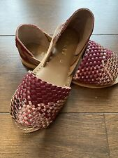 Size 3 Next Slip On Shoes / Sandals Leather Brand New