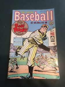 Will Eisner-Kitchen Sink Baseball Comics 1991 No.1  Rube Rooky- cards included