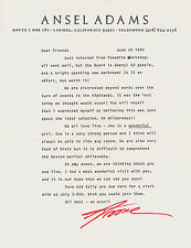 Rare & Interesting Ansel Adams Letter Edward Weston Brett Photo Autograph Signed