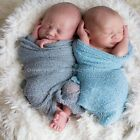 Girls Photography Props Newborn Photo Cloths Baby Blanket Stretch Knit Wrap
