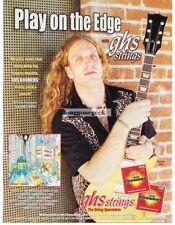 2001 GHS Boomers Guitar Strings BRIAN TARQUIN of Asphalt Jungle Vtg Print Ad