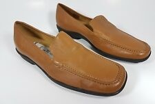 Clarks tan leather flat shoes uk 4.5 worn once