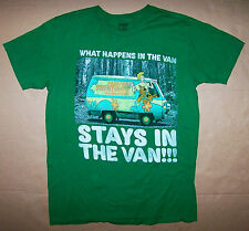 SCOOBY DOO / THE MYSTERY MACHINE VAN CAMPING FOREST / ADULT GREEN T-SHIRT SIZE M