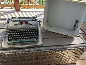 1960's Olympia SM4 typewriter, Case, Brush And Manual, Excellent Condition!