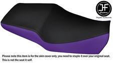 Estilo 2 púrpura y negro personalizado de vinilo cabe Honda CBR 600 F 91-96 Doble Cubierta de asiento