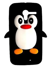 Black Silicone Penguin Phone Case / Cover for Motorola Moto X