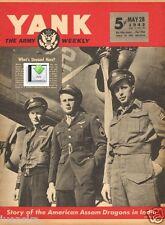 CD FIle 2 YANK Issues June 1943 USA Ed. Assam Dragons Waac Tunisia - PDF / CD