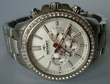 Ladies Rotary Aquaspeed Silver Tone Chronograph Bracelet Watch ALB00086/C/01