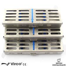 3 x sterilization cassette rack plateau détiennent 5,7 & 10 chirurgie dentaire autoclave ce