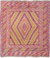 379 # Stunning Handmade Mashwani Gazak (127 x 115 cm) Jewels color 100% Wool Rug