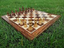 """Indian Handcrafted 15X15"""" Inche Best Professional Flat Chess Game Board Set"""