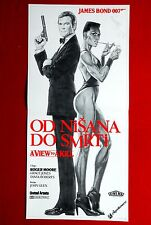 007 JAMES BOND A VIEW TO A KILL 1985 GRACE JONES ROGER MOORE EXYU DAYBILL MOVIE