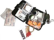 ULTIMATE SURVIVAL KIT watertight military mess box 20 items compass firestarter