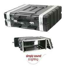 New 4U ABS 19 Inch Rack Flight DJ PA Equipment Transport Case Flightcase