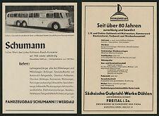 AUTO Wagenbau Schumann Werdau cainsdorf Pirna Sassonia omnibus Alstom SINISTRO 1938