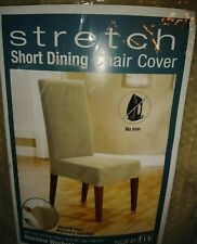 Sure Fit Stretch Pique Short Dining Room Chair Slipcover - Cream New Shelf Pull