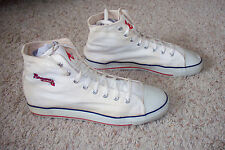 Vintage Atlanta Braves White Canvas High Top Shoes MLB Men 13 M