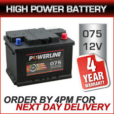 075 Powerline 12V Car Battery fits many Ford Jag Jeep Mazda MG Mini Nissan
