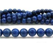 "6mm Blue Egyptian Lazuli Lapis Gemstone Loose Beads 15""AAA"
