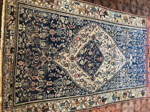 Antique PersianLori Hand made rug  200x102cm/6.7x4