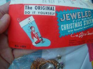 VERY Rare Edna Looney (Bucilla) MADONNA W/ CHILD Jeweled Christmas Stocking Kit