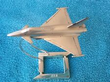 """EUROFIGHTER """"EFA"""" TYPHOON COLLECTOR'S AIRPLANE MODEL 1:100 SCALE SILVER PLATED"""