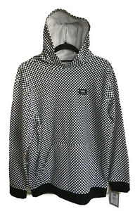 NWT VANS Mounted Youth Boys-K Black & White Checker Hoodie Size XL, MSRP $55