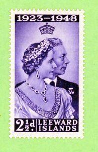 Leeward Islands 1 stamp, SC 118,Silver Wedding Issue , 1949, MPH