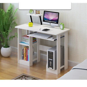 Corner Computer Desk  PC Table Workstation Home Office Study Furniture White New