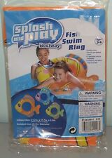 Splash and Play Swim Ring Pool Float Orange Fish NEW Ages 3-6
