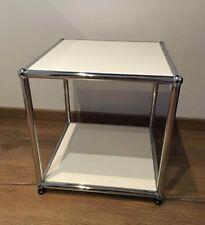 1 Original USM Haller Beistelltisch Tisch RAL 9010 Weiß 37x37x 39 cm Top