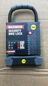 Yale YUL3/14/230/1- Maximum Security Bike Lock 230mm- U Lock- Hardened Steel