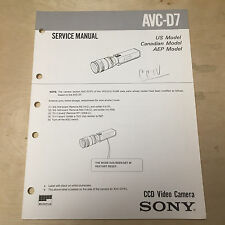 Sony Service Manual for the AVC-D7 CCD Video Camera ~ Repair